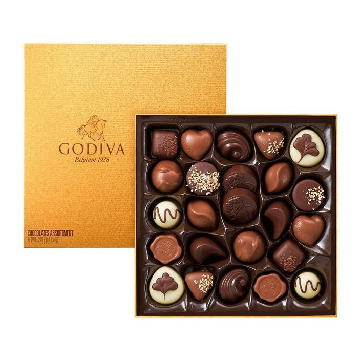 Godiva Gold Rigid Box, 24 Adet Pralin