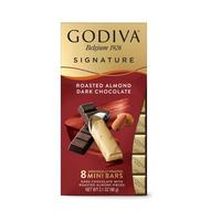 Godiva Mini Bars Kavrulmus Bademli Bitter, 8 Adet Stick