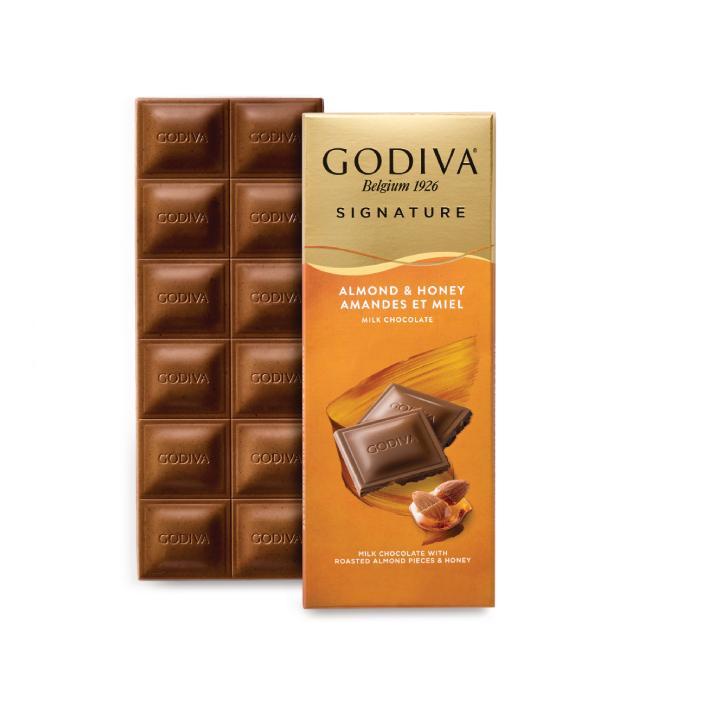 Godiva Ballı, Bademli Sütlü Tablet Çikolata, 90 gr