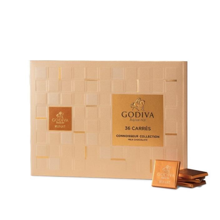 Godiva Carrés Sütlü Kare Çikolata Kutusu, 36 Adet